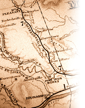 Map of the Colebrookdale Railroad line