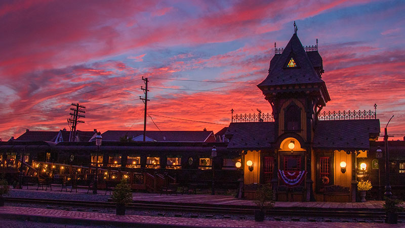 Colebrookdale Railroad Station at dawn